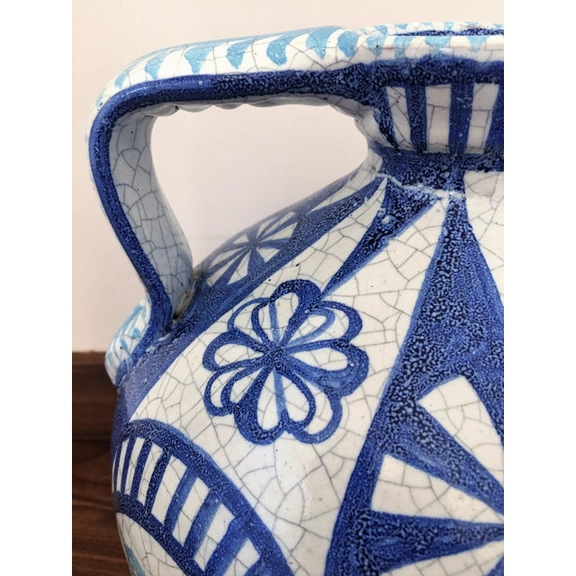 19th Century Glazed Pitcher in Blues and White - Image 6 of 7