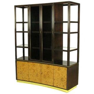 Edward Wormley Walnut & Olive Ash Burl Tall Cabinet for Dunbar Preview