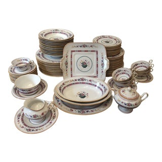"English Royal Doulton ""Urn"" Pattern Dinner Set - 80 Pieces For Sale"