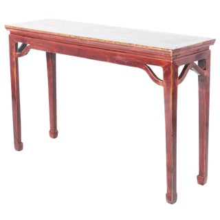 "19th Century Chinese 52"" Wide, 16"" Deep Hall Console Table For Sale"
