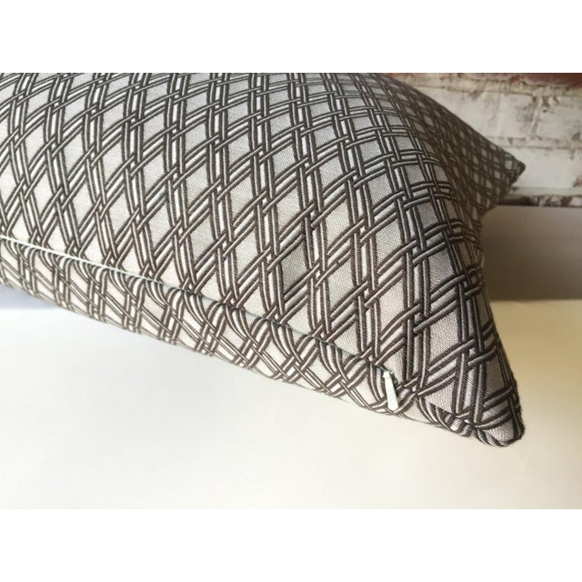 Basket Weave Truffle Gray Pillow Cover Chairish
