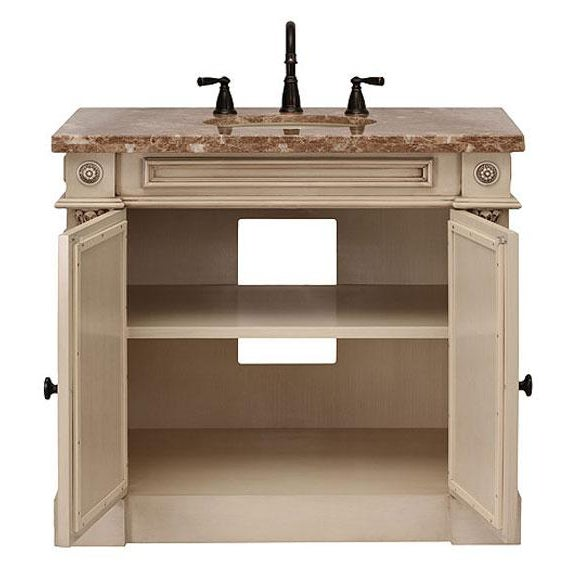 Classico Beige Bath Vanity with Cabinet - Image 4 of 6