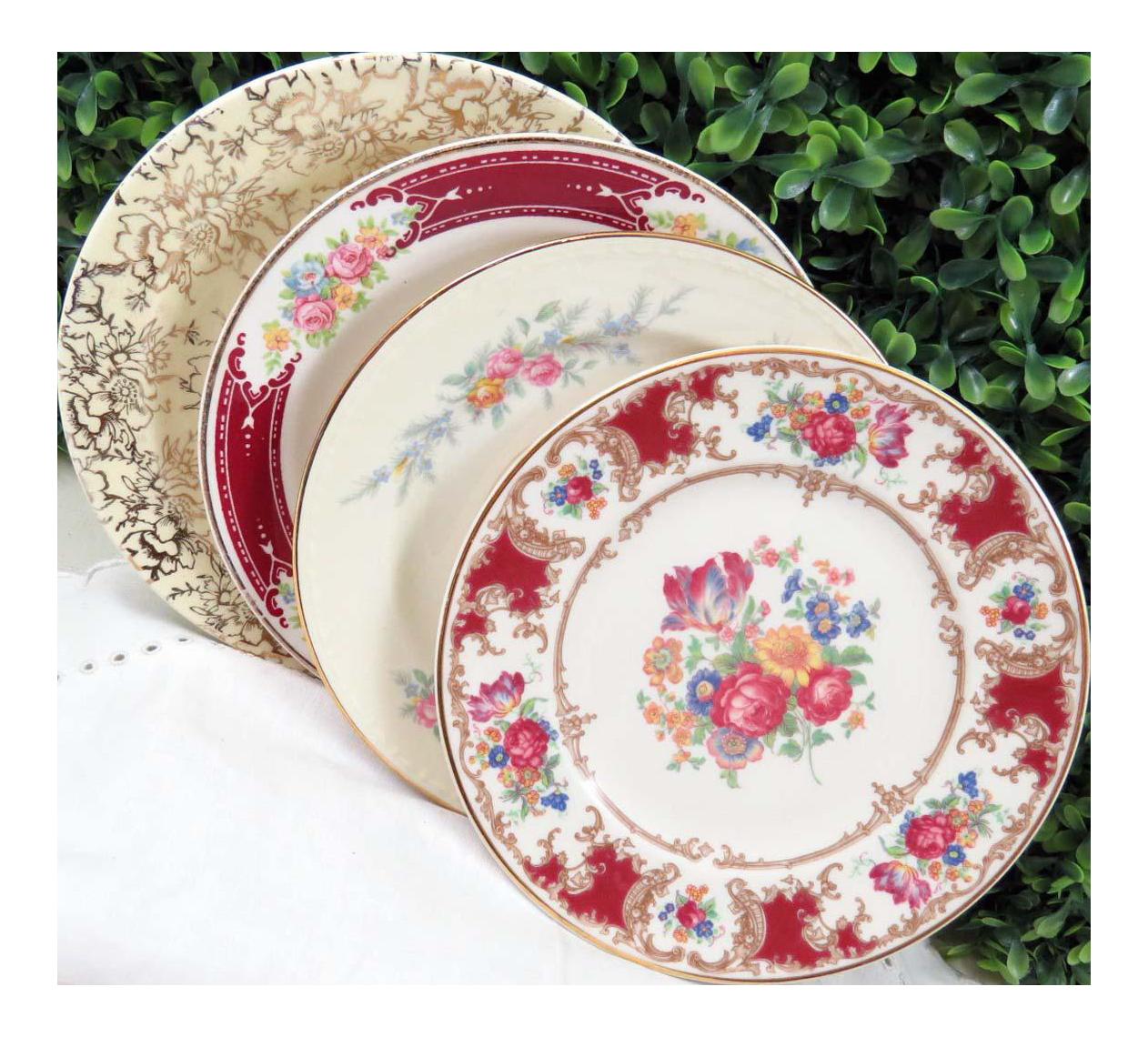 Vintage Mismatched Fine China Dessert Plates - Set of 4  sc 1 st  Chairish & Vintage Mismatched Fine China Dessert Plates - Set of 4 | Chairish