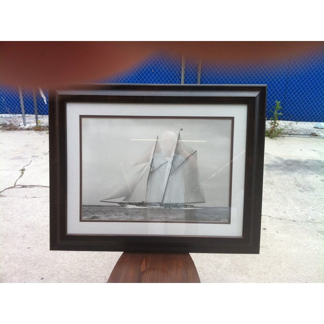 Crate & Barrel Photo Art - Meteor IV Sailing Boat - Image 3 of 3