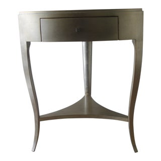 Modern Caracole Silver Accent Table For Sale
