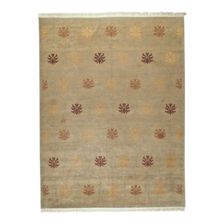 Tibetan Nepalese Rug - 9′ × 12′ For Sale