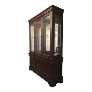 1990s Traditional Bassett China Cabinet For Sale