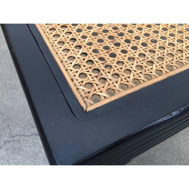 Black Anglo-Indian Ebonized Ottoman or Side Table For Sale - Image 8 of 13