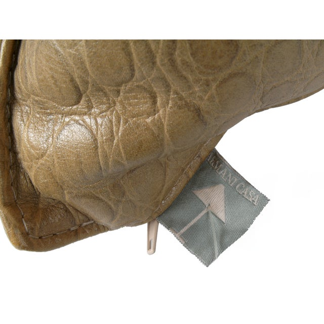 Animal Skin Original Armani Casa Leather Pillow For Sale - Image 7 of 8