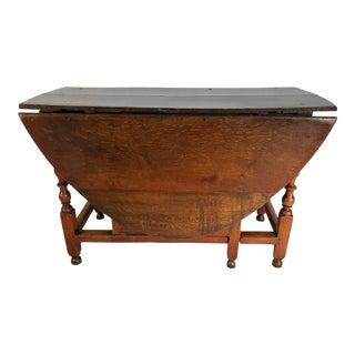 English Oak Gateleg Table For Sale
