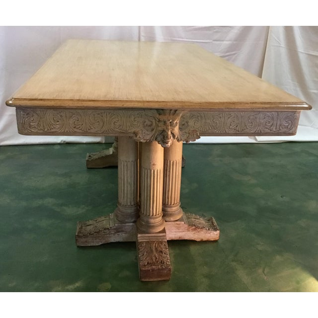 Gothic 19th C. Carved Bacchus Mahogany Table For Sale - Image 3 of 13