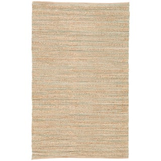 Jaipur Living Canterbury Natural Solid Tan/ Green Area Rug - 8′ × 10′ For Sale