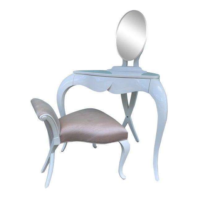 Christopher Guy Vanity Fair Dressing Table & Stool For Sale