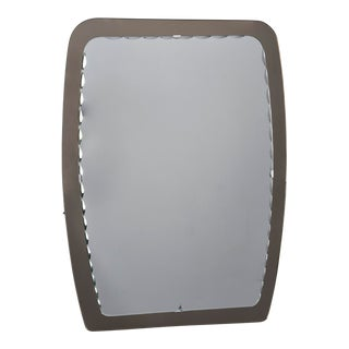 Cristal Arte Rectangular Mirror With Smoky Glass Frame For Sale