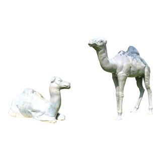 Bronze Pair of Camel Statues