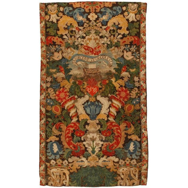 Antique 17th century French tapestry. Contact dealer.