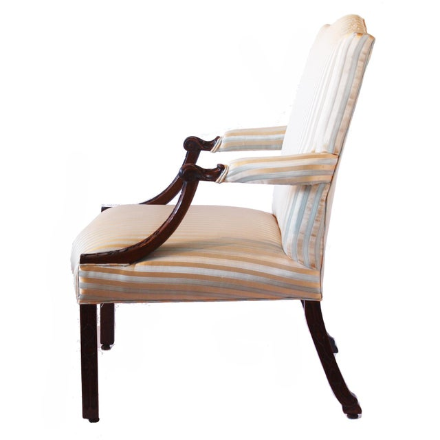Chippendale George II Mahogany Library Armchair For Sale - Image 3 of 7