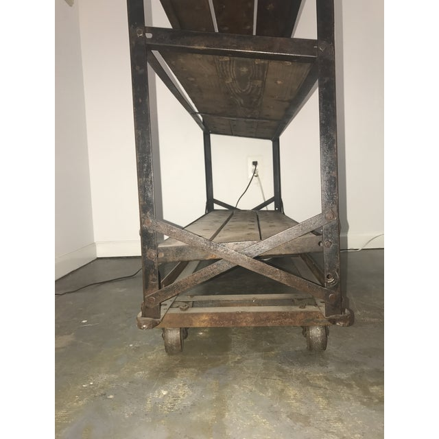 Black Antique Industrial Cobblers Shoe Rack Shelving Unit For Sale - Image 8 of 11