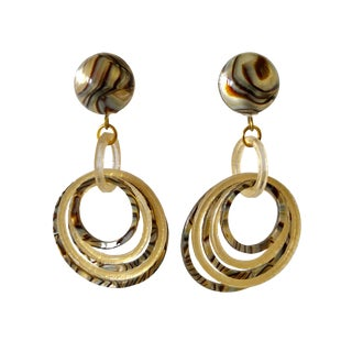 Faux Mop Architectural Hoop Earrings For Sale
