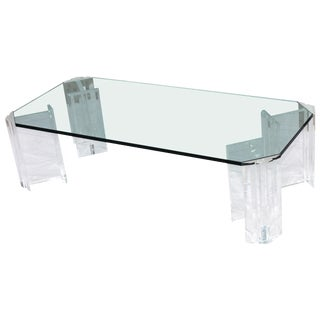 1970s Modern Lucite Coffee Table For Sale