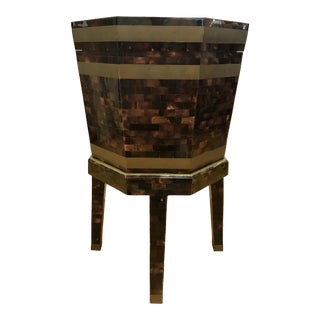 Maitland Smith Tortoiseshell Wine Cooler Box Table For Sale