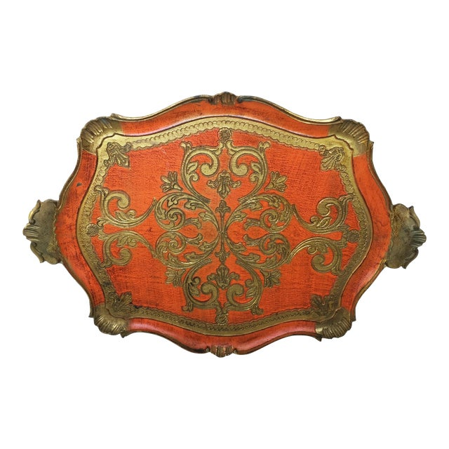 Vintage Italian Florentine Serving Tray - Image 1 of 8