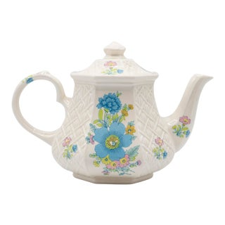 1940's English Floral Teapot by Sadler For Sale