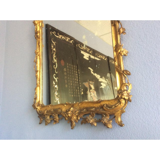 Late 18th Century Late 18th Century Rococo Style Giltwood Mirror For Sale - Image 5 of 10