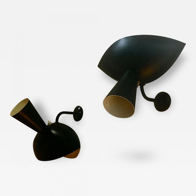 """1950s Serge Mouille Genuine Rare Pair of Model """"Cachan"""" Sconces For Sale - Image 5 of 5"""