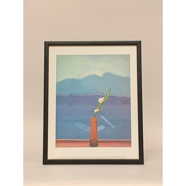 """2000 - 2009 Pop Art Framed Museum Lithograph """"Mount Fuji and Flowers"""" by David Hockney For Sale - Image 5 of 11"""