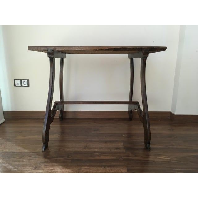 Walnut 19th Spanish Farm Table or Desk Table For Sale - Image 7 of 11