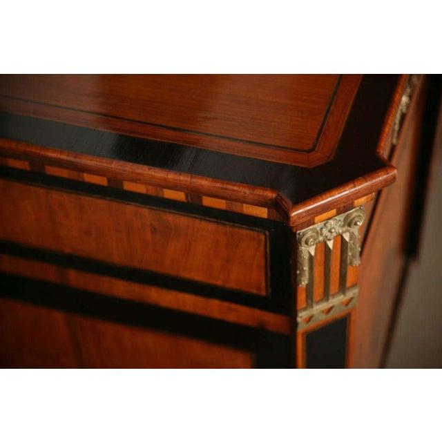 Bronze Dutch Neoclassic Sycamore, Ebonized Marquetry Credenza For Sale - Image 7 of 9