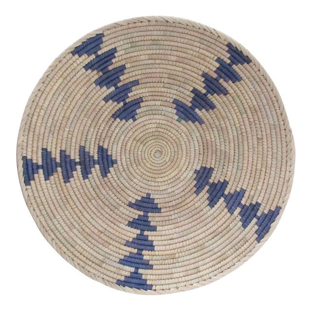 Native American Style Blue Arrow Basket - Image 1 of 4