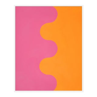 "Large ""Hairpin Serpentine in Orange & Pink"" Print by Stephanie Henderson, 41"" X 51"" For Sale"