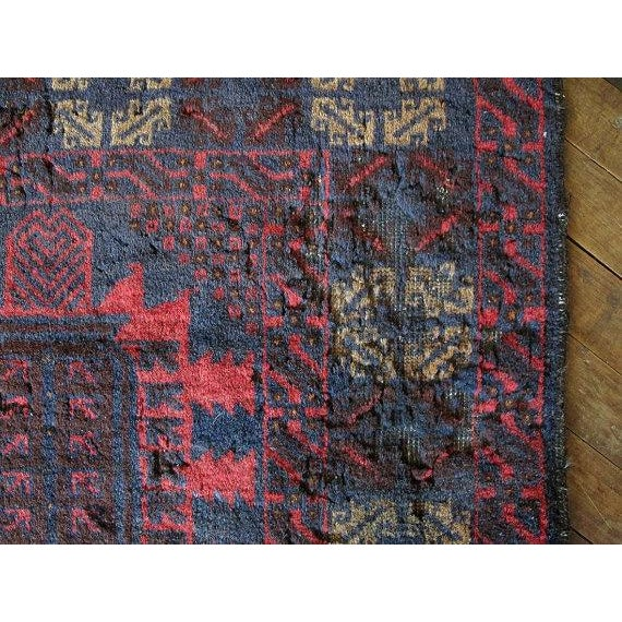 Vintage Navy & Red Persian Rug - 3′7″ × 6′5″ - Image 5 of 6