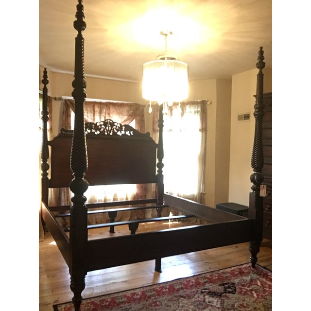 Tommy Bahama Rumba Del Sol Four Poster Bed For Sale - Image 13 of 13