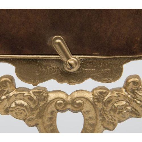 Antique Victorian Brass Mirror - Image 4 of 4