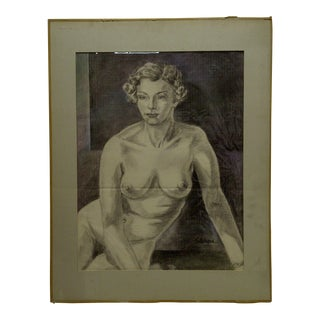 "Original Tom Sturges Jr. ""Nude"" Matted Drawing / Sketch"