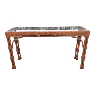 1970s Chinese American of Martinsville Pagoda Console Table For Sale
