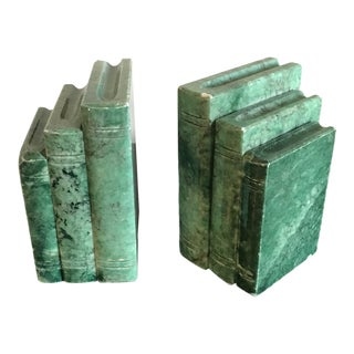 Italian Art Deco Marble Bookends - a Pair For Sale