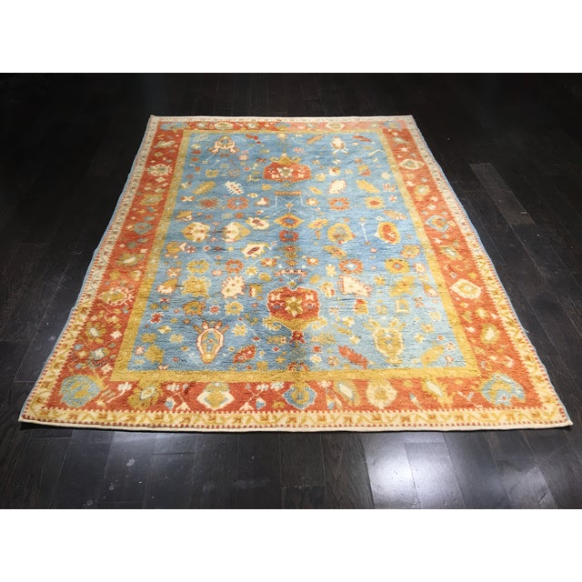 "Vintage Oushak Moroccan Area Rug - 5'7"" X 7'9"" - Image 2 of 6"
