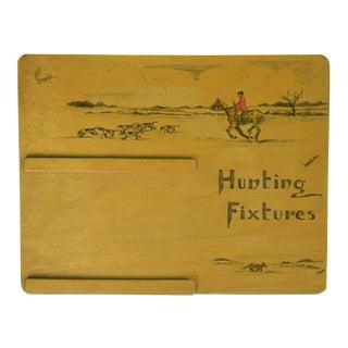 1930s Vintage Swaine & Adeney Hunting Fixtures Easel Calendar Plaque For Sale