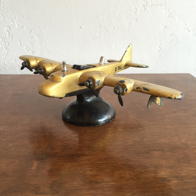Art Deco Art Deco Cast Iron Airplane Lighter For Sale - Image 3 of 7