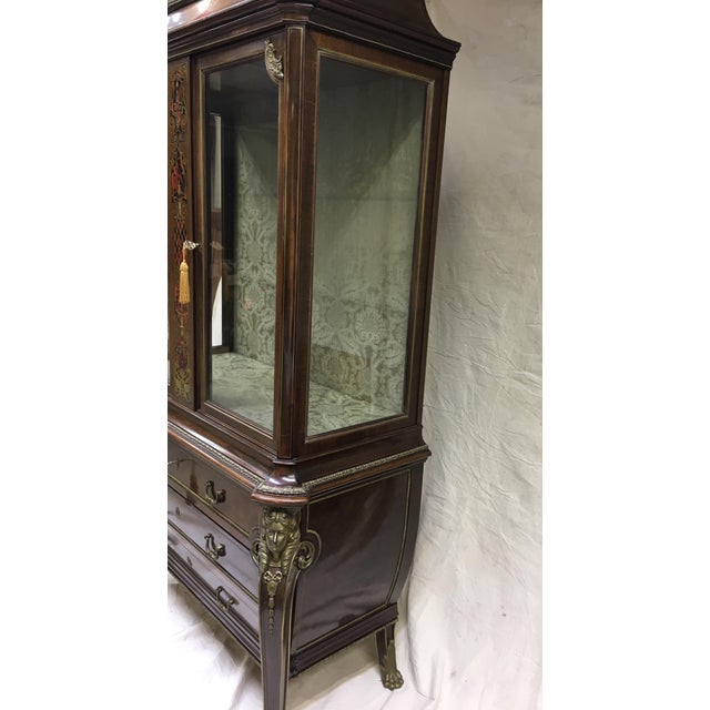 1970s Napoleon III Empire Style Cabinet For Sale - Image 4 of 12