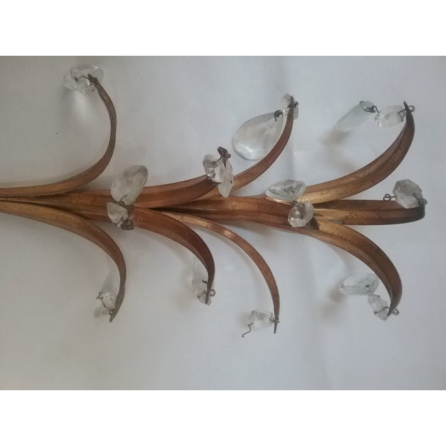 French Gilt Glass Prism Sconce For Sale In Sacramento - Image 6 of 7