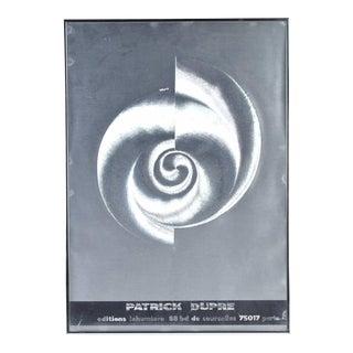 Patrick Dupre Aluminum Hologram Op Art Editions Lahumiere Chrome Signed For Sale