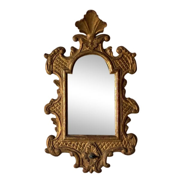 Venetian Baroque Gilt and Mirrored Sconce For Sale