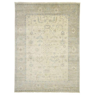 Contemporary Oushak Style Area Rug - 10′1″ × 13′10″ For Sale
