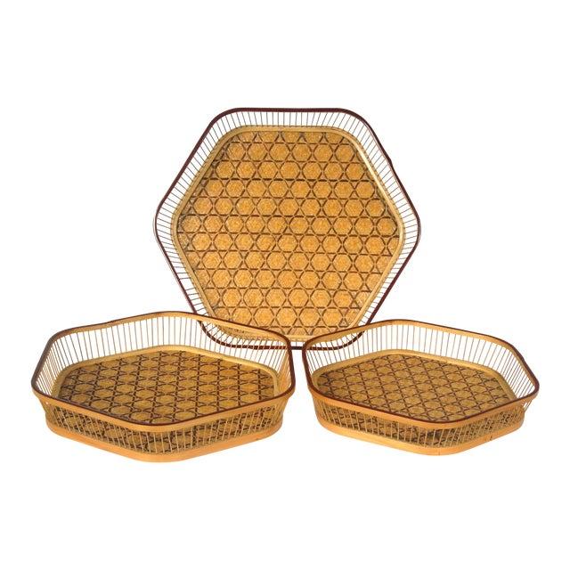 Japanese Nesting Baskets - Set of 3 - Image 1 of 4