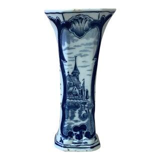 Delft Blue & White Vase For Sale